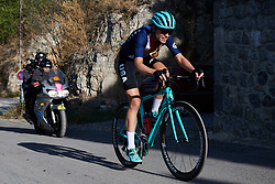Tayler Wiles (USA) solo at Tour Cycliste Féminin International de l'Ardèche 2018 - Stage 3, a 129.6km road race from St Sauveur de Montagut to Villeneuve de Berg, France on September 14, 2018. Photo by Sean Robinson/velofocus.com