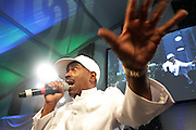 Water Mill, New York: Recording Artist Kurtis Blow performs at the RUSH Philanthropic Arts Foundation 15th Annual Art For Life Benefit Gala held in the Hamptons at the Farmview Farms on July 26, 2014  in Water Mill, New York. (Terrence Jennings)