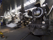 "Strasshof, Austria.<br /> Opening of the season at Das Heizhaus - Eisenbahnmuseum Strasshof, Lower Austria's newly designated competence center for railway museum activities.<br /> L: SB 109.13, 1913, was hauling passenger trains between Vienna and Trieste.<br /> M: kkStB 310.23 (Austrian Imperial Railways), ca. 1911-1916.<br /> R: ÖBB 52.100 (Austrian State Railways) from 1943 - the locomotive ""that rebuilt Europe"" after WW2."