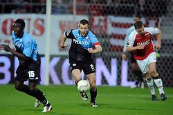 03-04-2010 VOETBAL: AZ - FC UTRECHT: ALKMAAR<br /> FC Utrecht verliest met 2-0 van AZ / Michael Silberbauer<br /> ©2010-WWW.FOTOHOOGENDOORN.NL