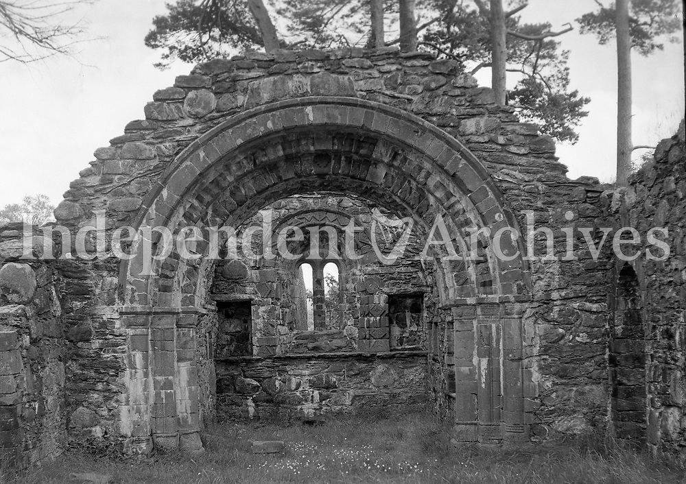 Clonmacnoise Monastery pictured in 1964. Clonmacnoise was founded in 544 by St. Ciar&aacute;n, a young man from Rathcroghan, Co. Roscommon.<br />