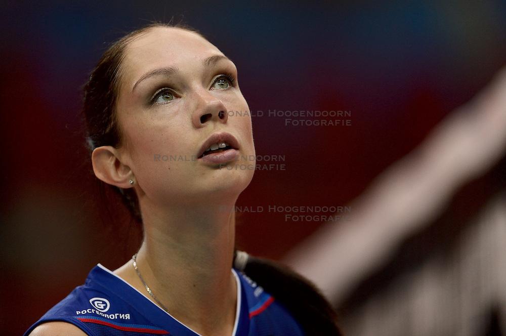 24-09-2014 ITA: World Championship Volleyball Rusland - Mexico, Verona<br /> Rusland wint met 3-0 / Ekaterina Gamova - Mukasey