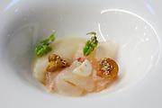 "China, Hong Kong S.A.R..Bo Innovation - X-treme Chinese Cuisine..SNAPPER.""hunan"" ham, dried mandarin peel, chanterelles"