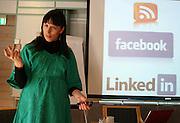 Ingeborg Volan holdt workshop om sosiale medier under seminaret i forkant av Frilansjournalistenes årsmøte.