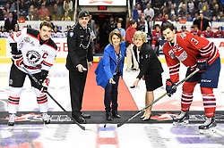 Game 3 action at the 2015 MasterCard Memorial Cup between the Oshawa Generals and Quebec Remparts at Pepsi Colisee in Quebec City on Sunday May 24, 2015. Photo by Aaron Bell/CHL Images