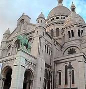 The 'Sacre Coeur' Church in Northern Paris, France