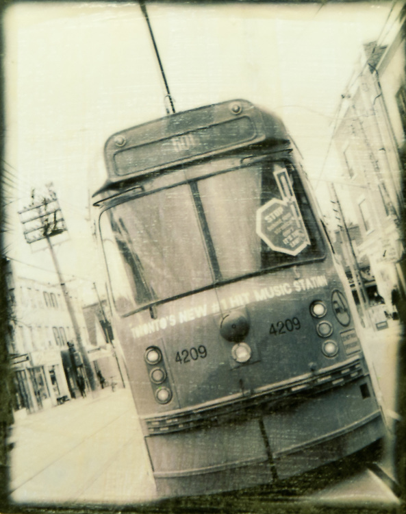 "501 Streetcar Photo-Encaustic Art 8x10"" SOLD"