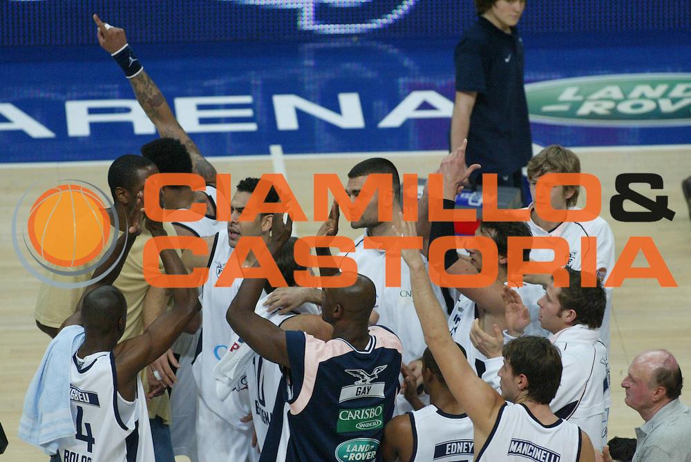 DESCRIZIONE : Bologna Eurolega 2006-07 Climamio Fortitudo Bologna Tau Vitoria <br /> GIOCATORE : Team Fortitudo Bologna <br /> SQUADRA : Climamio Fortitudo Bologna <br /> EVENTO : Eurolega 2006-2007 <br /> GARA : Climamio Fortitudo Bologna Tau Vitoria <br /> DATA : 17/01/2007 <br /> CATEGORIA : Esultanza <br /> SPORT : Pallacanestro <br /> AUTORE : Agenzia Ciamillo-Castoria/M.Minarelli <br /> Galleria : Eurolega 2006-2007 <br /> Fotonotizia : Bologna Eurolega 2006-2007 Climamio Fortitudo Bologna Tau Vitoria <br /> Predefinita :
