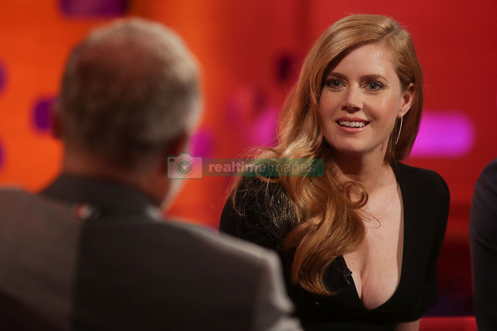Amy Adams during the filming of The Graham Norton Show at the London Studios in London, to be aired on BBC1 on Friday evening.