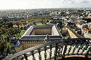 France. Paris. elevated view. The cloister and Anne of Autriche pavilion view from the dome of The Val de Grace church hospital  Grace