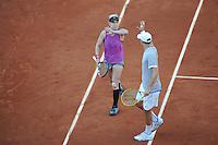 Bethanie MATTEK SANDS / Mike BRYAN  - 04.06.2015 - Jour 12 - Finale double mixte - Roland Garros 2015<br />Photo : Nolwenn Le Gouic / Icon Sport