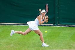 26.06.2013, Wimbledon, London, ENG, WTA Tour, The Championships Wimbledon, Tag 3, im Bild Caroline Wozniacki (DEN) during three one of the WTA Tour Wimbledon Lawn Tennis Championships at the All England Lawn Tennis and Croquet Club, London, Great Britain on 2013/06/26. EXPA Pictures © 2013, PhotoCredit: EXPA/ Propagandaphoto/ David Rawcliffe<br /> <br /> ***** ATTENTION - OUT OF ENG, GBR, UK *****