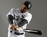 GLENDALE, ARIZONA - FEBRUARY 23:  Melky Cabrera #53 of the Chicago White Sox poses for a portrait during Photo Day on February 23, 2017 at Camelback Ranch in Glendale Arizona.  (Photo by Ron Vesely).  Object:  Melky Cabrera