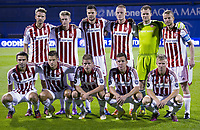 Fotball<br /> 07.08.2014<br /> Foto: imago/Digitalsport<br /> NORWAY ONLY<br /> <br /> ZAGREB, AUG. 7, 2014 -- Players of Aalborg pose for a team photo during UEFA Champions League 3rd Qualifying Round soccer match against Dinamo Zagreb at the Maksimir Stadium in Zagreb, Croatia, Aug. 6, 2014. Aalborg won 2-0. )