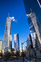 One World Trade Center Reflection, Greenwich Street