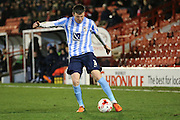Coventry City defender Chris Stokes (3)  during the Sky Bet League 1 match between Barnsley and Coventry City at Oakwell, Barnsley, England on 1 March 2016. Photo by Simon Davies.