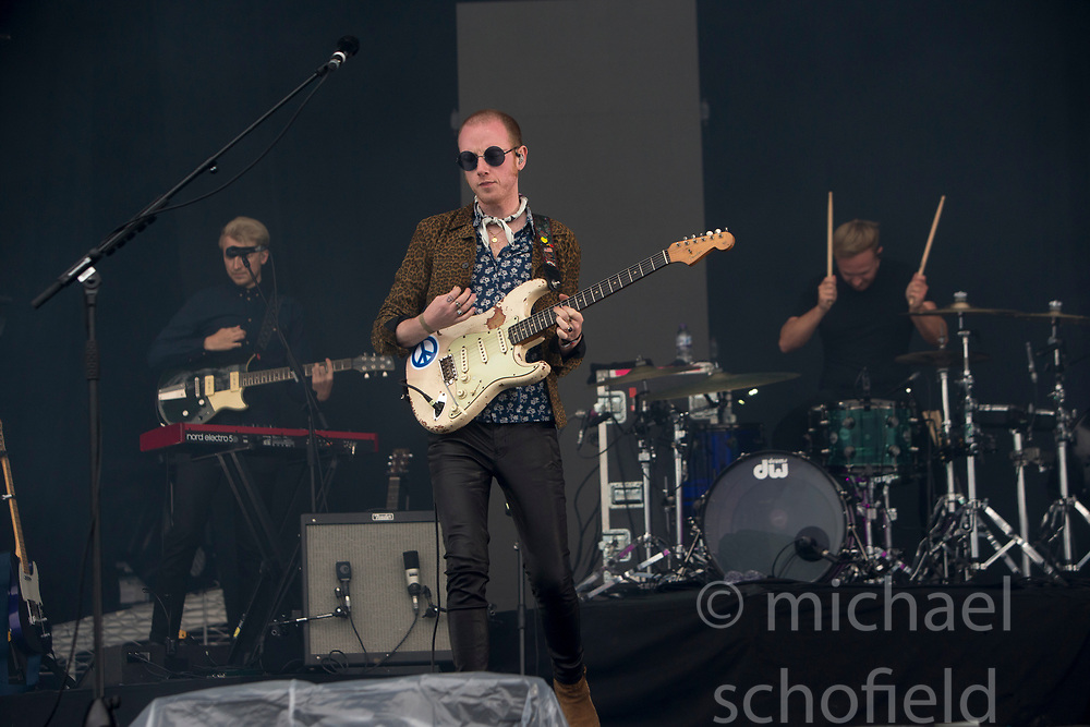 Two Door Cinema Club play the main stage on Sunday at the TRNSMT music festival, Glasgow Green.