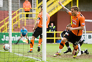 David Goodwillie scores - Dundee United v Hearts, Clydesdale Bank Scottish Premier League at Tannadice Park..© David Young Photo.5 Foundry Place.Monifieth.Angus.DD5 4BB.Tel: 07765252616.email: davidyoungphoto@gmail.com.http://www.davidyoungphoto.co.uk