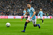 Ilkay Gundogan (8) of Manchester City during the Carabao Cup Final match between Chelsea and Manchester City at Wembley Stadium, London, England on 24 February 2019.