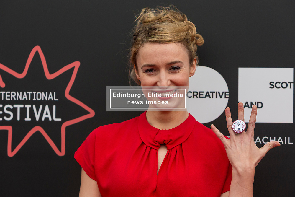 Photo-opportunity for The Dark Mile directed by Gary Love at the Edinburgh International Film Festival<br /> <br /> Pictured: Deirdre Mullins