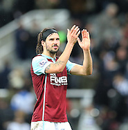George Boyd of Burnley claps their fans after the Barclays Premier League match at St. James's Park, Newcastle<br /> Picture by Simon Moore/Focus Images Ltd 07807 671782<br /> 01/01/2015
