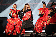 TAIPEI, CHINA - FEBRUARY 04: (CHINA OUT, TAIPEI OUT) <br /> <br /> Madonna sings on stage as she holds concert at Taipei Arena on February 4, 2016 in Taipei, Taiwan of China.<br /> ©Exclusivepix Media