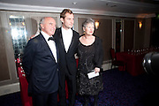 Peter Law;  Jude Law; Margaret Law, The Laurence Olivier Awards,The Grosvenor House Hotel, Park Lane. London.   21 March  2010