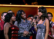 Kelly Rowland, the Houston Clash Choir and Maria Menounos appear onstage during the NBC 'Clash Of The Choirs' full show rehearsal at Steiner Studios in Brooklyn, New York City, USA on December 16, 2007.