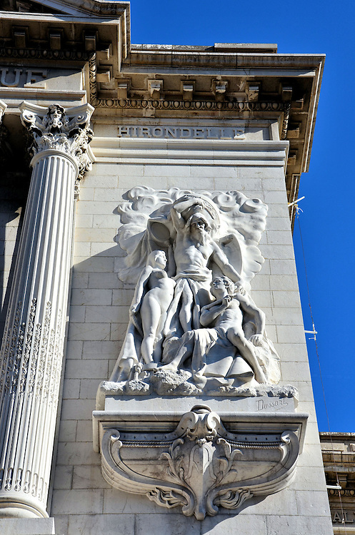 Oceanographic Museum Fa&ccedil;ade Sculpture in Monte Carlo, Monaco <br />