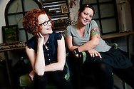 Brandi McElhatten and Holly Herman are the Lovely Wrecks. Photographed at Baldwin Wallace College