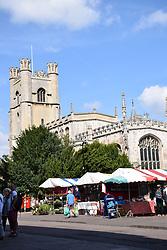 Great St Margaret's church & market, Cambridge UK
