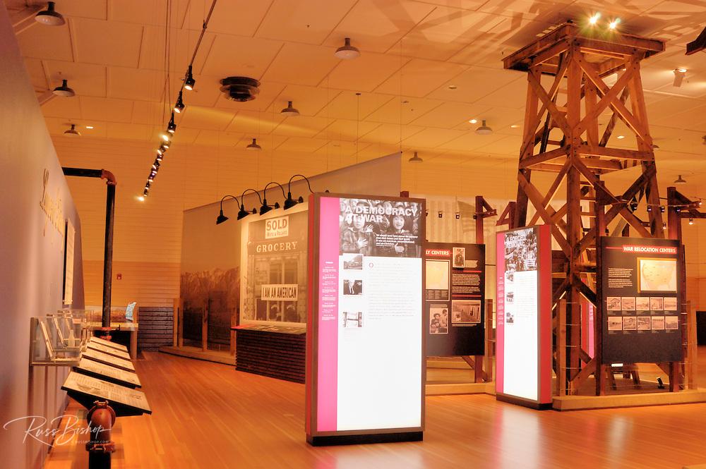 Interpretive displays in the visitor center at Manzanar War Relocation Center (National Historic Site), Owen's Valley, California