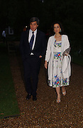 Princess Cristina Pignatelli and Antoine Chenevierre, Cartier dinner in the Chelsea Physic Garden. 22 May 2006. ONE TIME USE ONLY - DO NOT ARCHIVE  © Copyright Photograph by Dafydd Jones 66 Stockwell Park Rd. London SW9 0DA Tel 020 7733 0108 www.dafjones.com