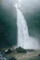 The Nungnung waterfall in northern Bali, Indonesia.