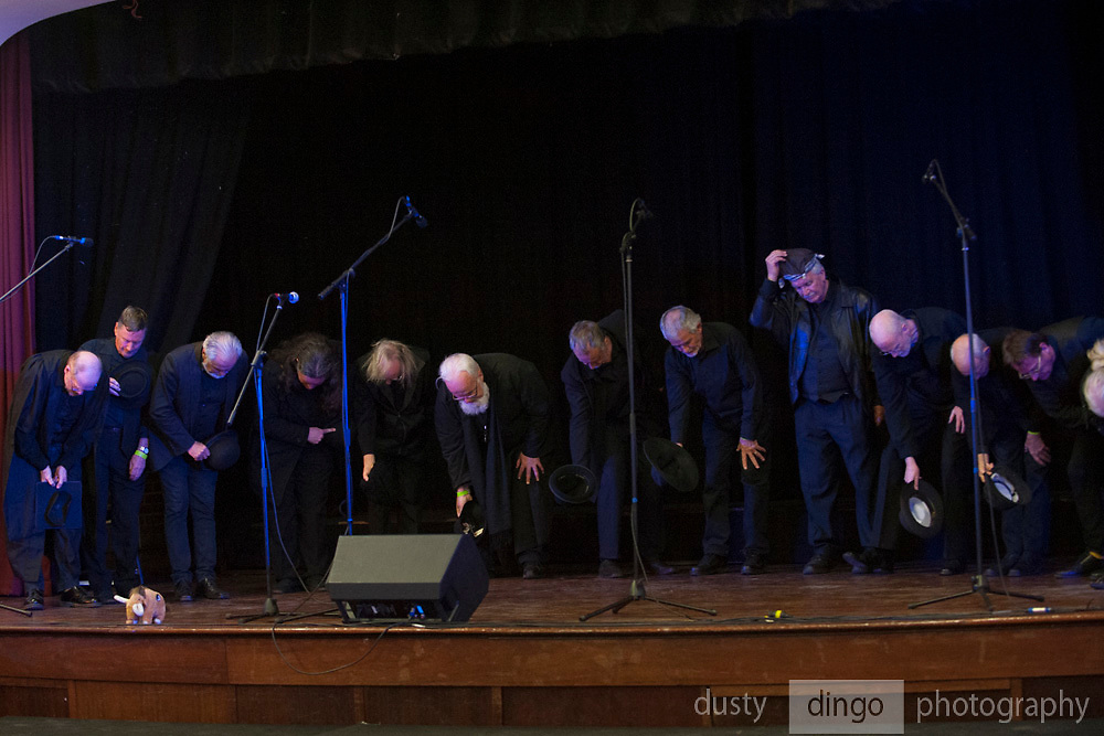 Men of the West choir performing in the Guildford Town Hall, part of the 2018 Guildford Songfest