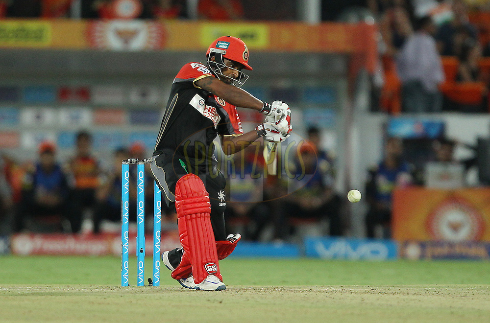 Sachin Baby of Royal Challengers Bangalore during match 27 of the Vivo IPL 2016 (Indian Premier League ) between the Sunrisers Hyderabad and the Royal Challengers Bangalore held at the Rajiv Gandhi Intl. Cricket Stadium, Hyderabad on the 30th April 2016<br /> <br /> Photo by Ron Gaunt / IPL/ SPORTZPICS