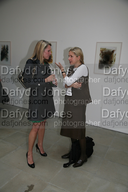 Charlotte Artus and Iwona Blazwick, Imagine Action. Curated by Emily Pethick. Lisson Gallery. 4 July 2007.  -DO NOT ARCHIVE-© Copyright Photograph by Dafydd Jones. 248 Clapham Rd. London SW9 0PZ. Tel 0207 820 0771. www.dafjones.com.