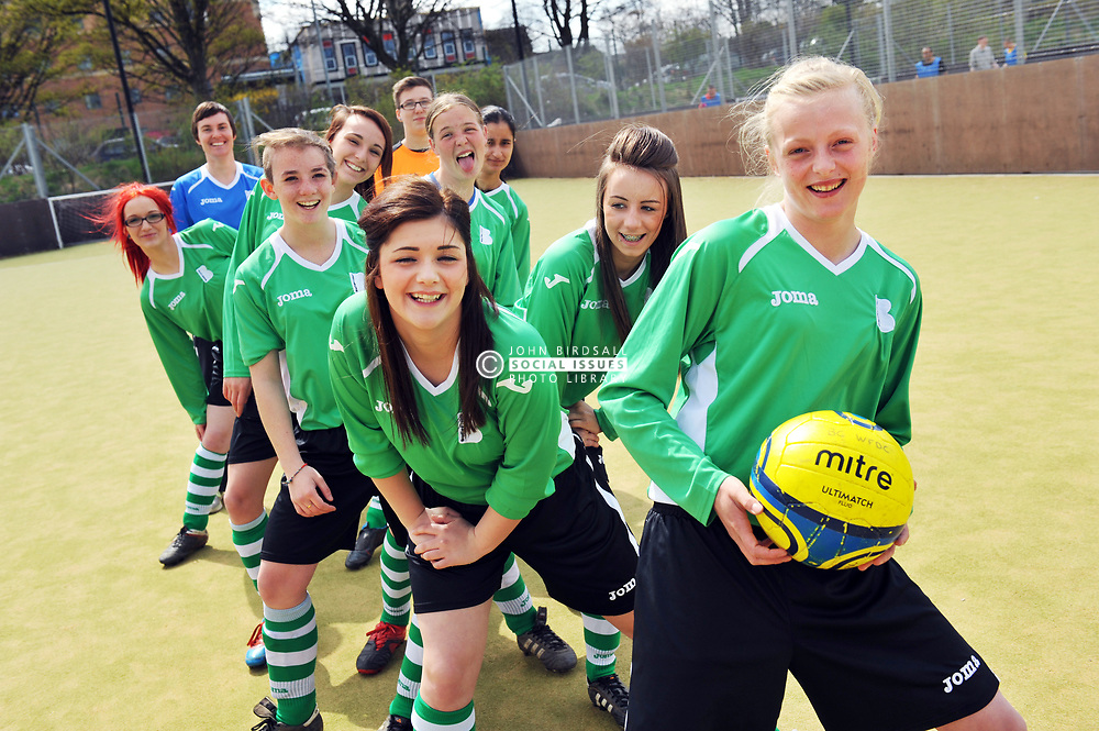 Female Football team at Bradford College UK