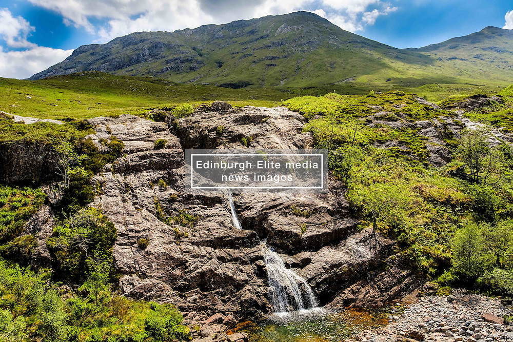 The meeting of the Three Waters waterfall in Glencoe, Highlands of Scotland<br /> <br /> (c) Andrew Wilson | Edinburgh Elite media