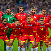 PARIS, FRANCE - September 10: The Andorra team pose for a team photograph before kick off during the France V Andorra, UEFA European Championship 2020 Qualifying match at Stade de France on September 10th 2019 in Paris, France (Photo by Tim Clayton/Corbis via Getty Images)