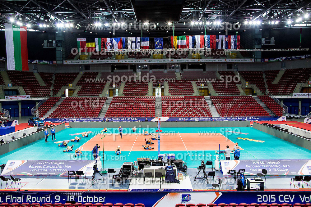 Arena during practice session of Italian National Volleyball team in the morning before Semifinal match against Slovenia at 2015 CEV Volleyball European Championship - Men, on October 17, 2015 in Arena Armeec, Sofia, Bulgaria. Photo by Vid Ponikvar / Sportida