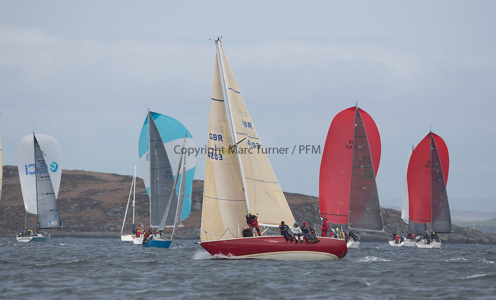 Day one of the Silvers Marine Scottish Series 2015, the largest sailing event in Scotland organised by the  Clyde Cruising Club<br /> Racing on Loch Fyne from 22rd-24th May 2015<br /> <br /> K4203, Stargazer, G. MacLeod/A. Bisland, CCC / Arran YC , Grand Soleil 34<br /> <br /> Credit : Marc Turner / CCC<br /> For further information contact<br /> Iain Hurrel<br /> Mobile : 07766 116451<br /> Email : info@marine.blast.com<br /> <br /> For a full list of Silvers Marine Scottish Series sponsors visit http://www.clyde.org/scottish-series/sponsors/