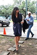 Actress Sandra Bullock arrives  Warren Easton Charter School in New Orleans. Bullock was there to cut the ribbon at the Warren Easton Charter School Health Clinic Sunday Aug. 29th 2010 on the 5th anniversary of Hurricane Katrina. BULLOCK SPEAKS ABOUT THE HEALTH CENTER AT THE EASTON SCHOOL. Photo © Suzi Altman