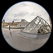 November 21~28, 2014  •  Paris, France  •  new images for 'aRound Paris'  •  from the North corner of the small Pyramide looking South towards the main Pyramide in the direction of Quai Francois Mitterrand