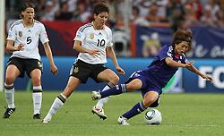 09.07.2011, Arena im Allerpark Wolfsburg , Wolfsburg ,  GER, FIFA Women Worldcup 2011, Viertelfinale ,   Germany (GER) vs Japan (JPN) im Bild.Linda Bresonik (GER) gegen Kozue Ando (JPN).  //  during the FIFA Women Worldcup 2011, Quarterfinal, Germany vs Japan  on 2011/07/09, Arena im Allerpark , Wolfsburg, Germany.  .EXPA Pictures © 2011, PhotoCredit: EXPA/ nph/  Hessland       ****** out of GER / CRO  / BEL ******