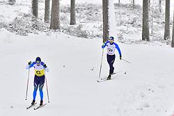 KOVALEVSKYI Anatolii Guide: MUKSHYN O, UKR, B2 at the 2018 ParaNordic World Cup Vuokatti in Finland