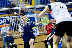 Miha Ivancic of Slovenia in blue shirts during Victor Slovenia future series badminton turnir in Brezice, 24. November, 2019, Slovenia. Photo by Grega Valancic / Sportida