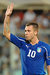 07.09.2010, Stadio Artemio Franchi, Florenz, ITA, UEFA 2012 Qualifier, Italia v Faer Oer, im Bild Antonio CASSANO.EXPA Pictures © 2010, PhotoCredit: EXPA/ InsideFoto/ Andrea Staccioli *** ATTENTION *** FOR AUSTRIA AND SLOVENIA USE ONLY! / SPORTIDA PHOTO AGENCY