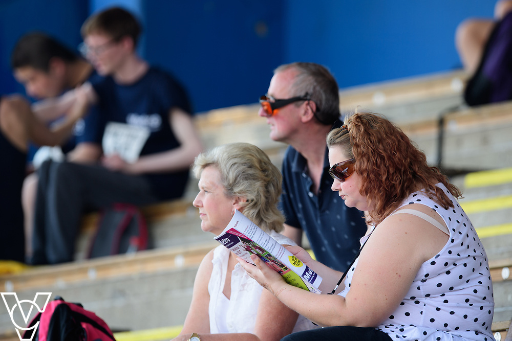 Metro Blind Sport's 2017 Athletics Open held at Mile End Stadium.  Spectators<br /> <br /> Picture: Chris Vaughan Photography for Metro Blind Sport<br /> Date: June 17, 2017