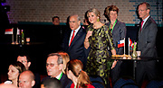 "Koningin Maxima houdt woensdag 20 april de openingstoespraak bij het tweedaagse symposium 'The Netherlands-OECD Global Symposium on Financial Resilience Throughout Life' in de Beurs van Berlage in Amsterdam. Deze conferentie is een initiatief van het International Network on Financial Education (INFE) van de Organisatie voor Economische Samenwerking en Ontwikkeling (OESO) en platform Wijzer in geldzaken. <br /> <br /> Queen Maxima hold Wednesday, April 20 the opening speech at the two-day symposium ""The Netherlands-OECD Global Symposium on Financial Resilience Throughout Life 'at the Beurs van Berlage in Amsterdam. This conference is an initiative of the International Network on Financial Education (INFE) of the Organisation for Economic Co-operation and Development (OECD) and platform Wiser in money matters. <br /> <br /> Op de foto / On the Photo:  Koningin Maxima tijdens de aankomt bij de Beurs van Berlage / Queen Maxima during the arrival at the Beurs van Berlage"